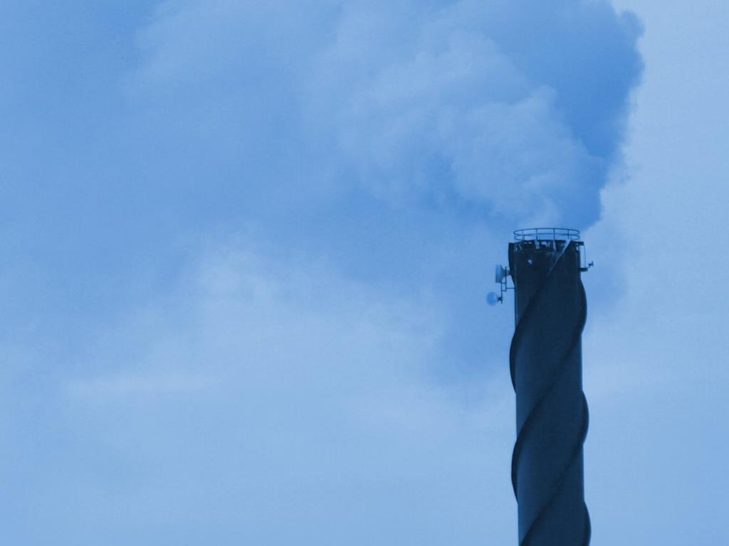 Decoration - Abstract photo of factory chimney.