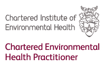 Chartered member of the Chartered Institute of Environmental Health